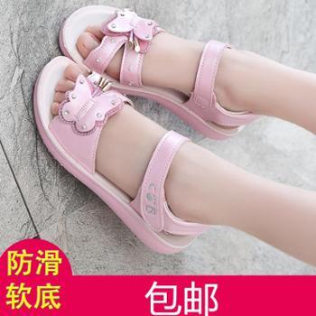 2016夏季新款女童凉鞋真皮儿童沙滩凉鞋韩版女孩中大童公主凉鞋子