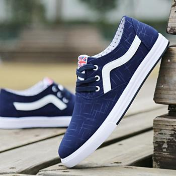 新款男鞋春夏季透气帆布鞋低帮男土休闲鞋板鞋英伦韩版潮男单鞋子