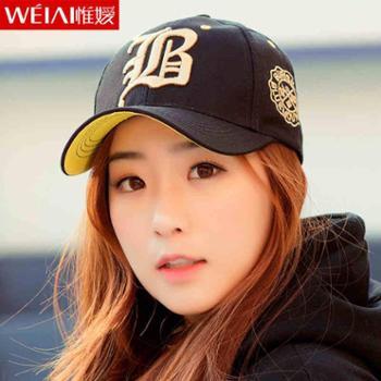 帽子女韩版潮流棒球帽夏天遮阳帽防晒帽太阳帽街舞运动休闲鸭舌帽