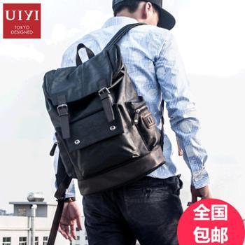 佑一良品新款双肩包男欧美时尚休闲旅行背包书包电脑包韩版潮男包