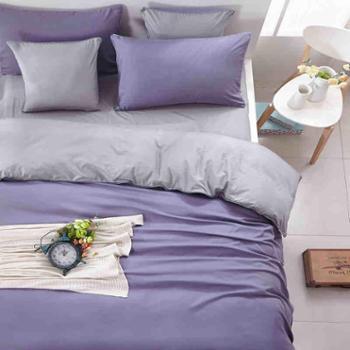简约纯色被套床单四件套夏季床上用品三件套4床笠单双人床1.8m1.5