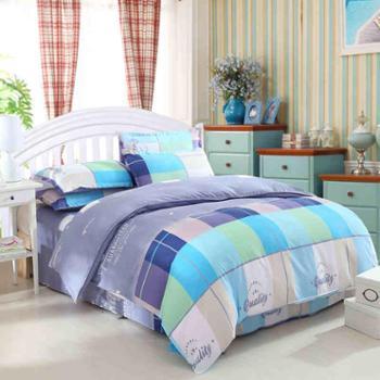 馨莱诺斜纹春夏四件套 床单被套床上用品磨毛双人4件套1.5m1.8米