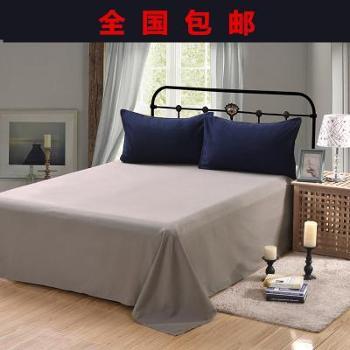 床单单件纯色纯棉老粗布双人全棉学生宿舍被单床笠1.5/1.8/2.0m床