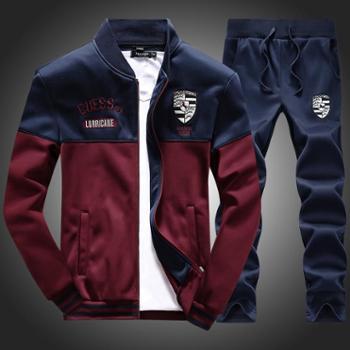 外套中学生运动套装男衣服潮情侣开衫男士新款卫衣青JCD10