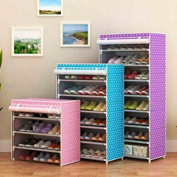 简易多层鞋架双排组装鞋柜简约现代经济型铁艺收纳防尘鞋架特价