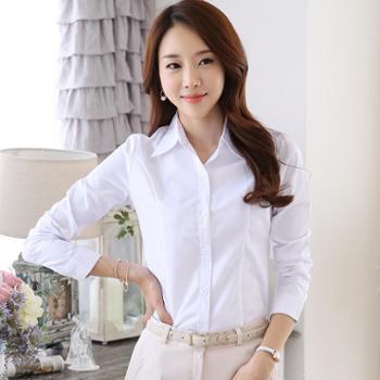 新款春秋冬女装长袖衬衫女职业工装大码正装女士时尚潮流白衬衫