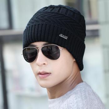 冬季帽子男士毛线帽韩版加厚保暖冬天针织帽户外青年护耳包头帽子