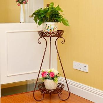 欧式铁艺花架多层落地式阳台室内客厅花架子绿萝吊兰花盆架子