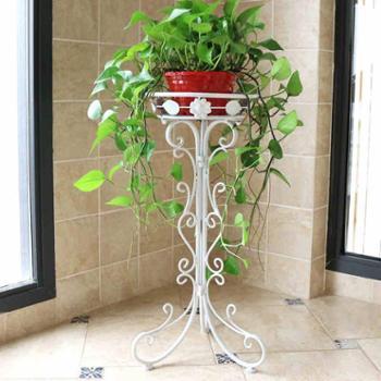 铁艺花架单层绿萝吊兰落地花盆架室内外欧式客厅阳台折叠花架子