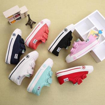 儿童帆布鞋男童女童鞋子宝宝休闲低帮布鞋时尚板鞋秋季新款小白鞋