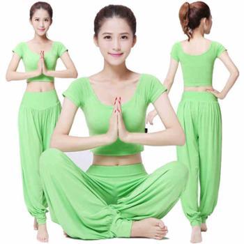 春夏新品瑜伽服套装瑜伽服女瑜珈服健身服舞蹈服瑜伽裤瑜伽服短袖