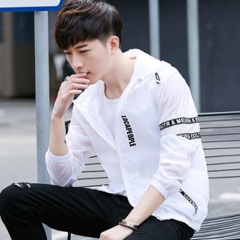 防晒衣男夏季男士外套 超薄款透气韩版修身帅气青少年防晒服潮流