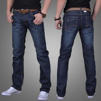 休闲直筒宽松大码牛仔裤男士青年商务修身潮流裤子男裤长裤子