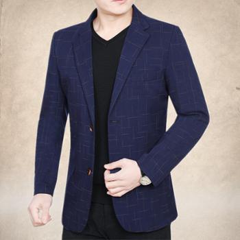 梦派丝中年男士外套小西服男薄款休闲西装男韩版修身便西春秋季新款