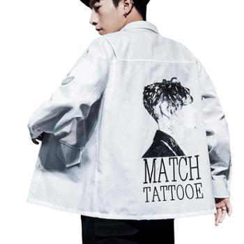 衬衫男长袖商务休闲衬衫韩版新款宽松男士衬衣JCG01