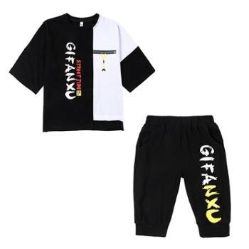 男童夏装套装儿童装运动两件套韩版帅气男孩短袖洋气潮衣