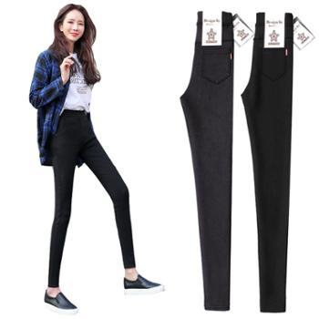 打底裤女裤外穿黑色春新款大码九分紧身小脚铅笔长裤夏季薄款