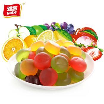 雅客美嚼橡皮糖5*100g装果汁软糖多口味糖果儿童零食qq糖