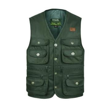 Aeroline男式中老年爸爸装户外休闲扣版多口袋马甲