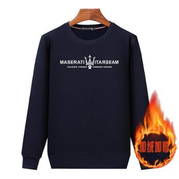 Aeroline秋冬新款T恤长袖休闲厚款宽松保暖套头卫衣09款
