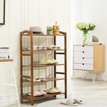 竹居士鞋架多层简易鞋柜收纳架现在简约楠竹置物架