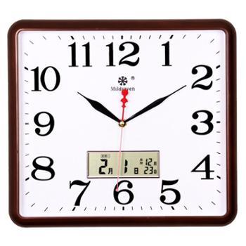 七王星方形电子挂钟钟表石英钟