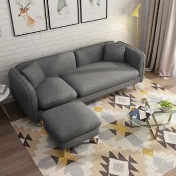 沙发 现代简约客厅小户型沙发双三人沙发日式北欧沙发卧室布艺沙发组合