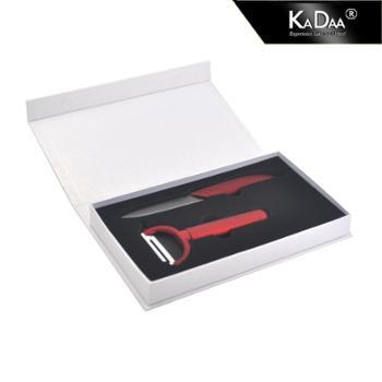 可德陶瓷刀 神秘黑刃陶瓷刀 礼品盒两件套