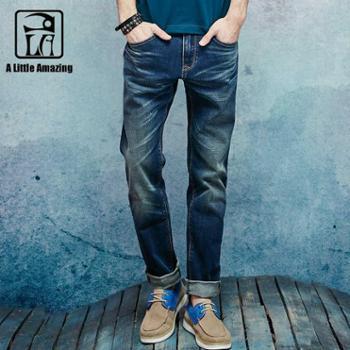 ALAMASTER牛仔裤男春夏薄款直筒青年中腰休闲宽松舒适裤子