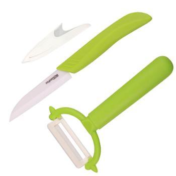 美瓷(MYCERA)陶瓷刀切水果刀具套装两件套多功能小刀宝宝辅食刀TA01F厨房用具