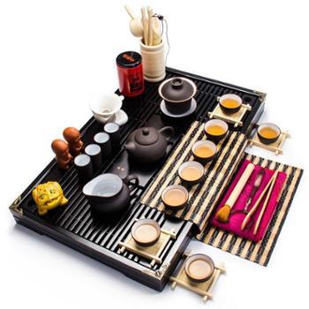 生活用品 高档紫砂功夫茶具整套实木茶盘