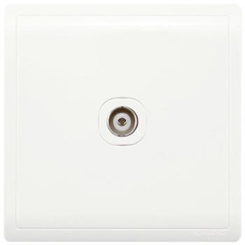 施耐德(Schneider)开关插座 有线电视插座 丰尚系列 白色