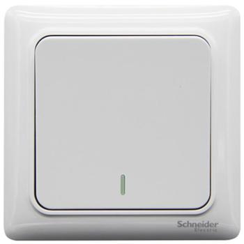 施耐德(Schneider)开关插座开关面板一开多控开关中途开关睿意系列白色