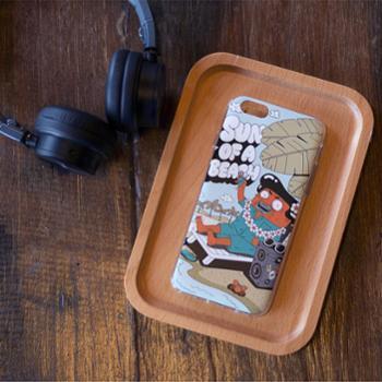 bcase 插画师手机壳原创个性涂鸦iPhone 6 Plus/6S Plus保护套手机套