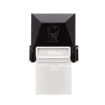 金士顿优盘USB3.0 OTG高速金属防水双插头手机U盘 DTDUO3