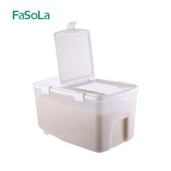 FaSoLa厨房密封米桶家用塑料防潮收纳米缸大米面粉防虫储米箱10kg