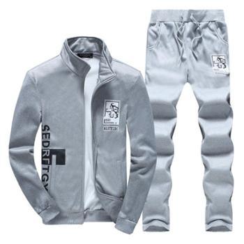 春秋新款男士运动套装青少年学生两件套