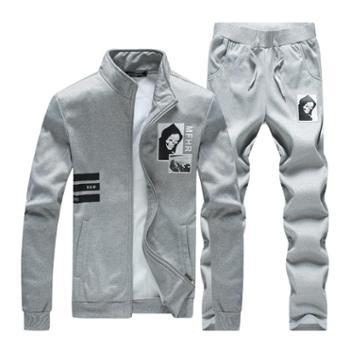 春秋男士休闲套装青少年时尚运动两件套
