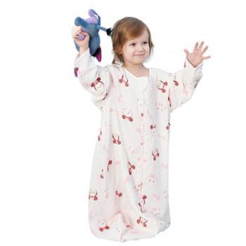 迪士尼婴儿睡袋夏季薄款纱布一体式分腿宝宝儿童防踢被神器四季