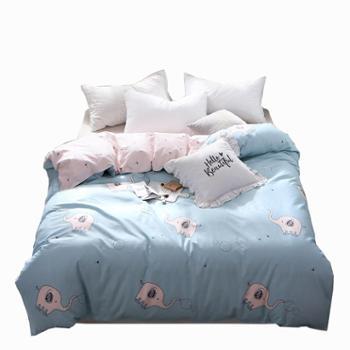 oukk欧康家纺快乐物语全棉被套被罩纯棉被罩全棉单人学生宿舍寝室双人单被套
