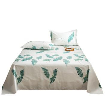 普马狮安逸若兮-米床单单件纯棉北欧风全棉斜纹学生宿舍床上用品