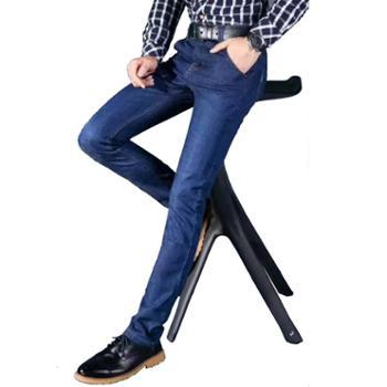 大江大河G-RIVER春秋新款厚款男式牛仔裤合身版直筒大裤脚透气棉质长裤子