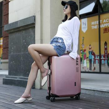 迪克瑞墨娃pc单拉杆箱防刮旅行商务登机箱静音万向轮20寸行李箱
