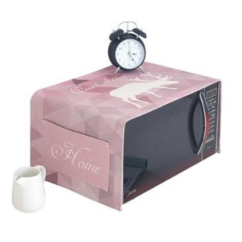 梅兰锦绣微波炉罩烤箱布艺棉麻盖巾简约北欧麋鹿盖布防尘布