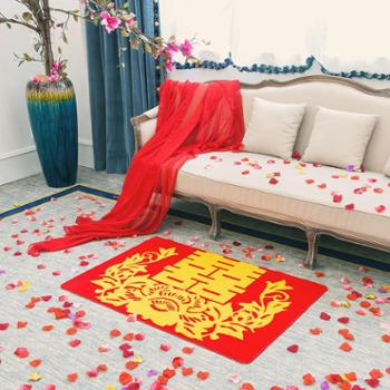 格温多琳 喜庆红地毯 结婚地垫 婚庆用品 婚宴装饰地毯 卫生间房间防滑垫