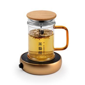 茶艺师暖520玻璃杯保温座创意个人办公茶水杯牛奶加热恒温垫45℃-55℃