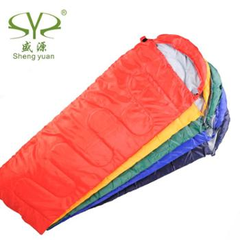 户外睡袋盛源春夏款信封式睡袋户外露营睡袋午休睡袋