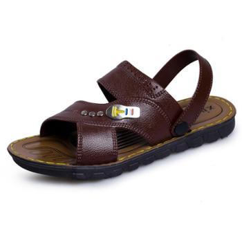 羊骑士 夏季新品男士沙滩两用凉鞋