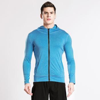 派衣阁2018春季新款男士健身户外运动休闲外套拉链衣服上衣NW100