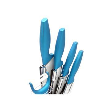 银海瓷业蓝色陶瓷餐刀五件套 绿色健康陶瓷刀